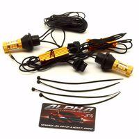 Дневные ходовые огни в поворотники T20 / W21W / 7440 светодиодные лампы с обманкой купить недорого