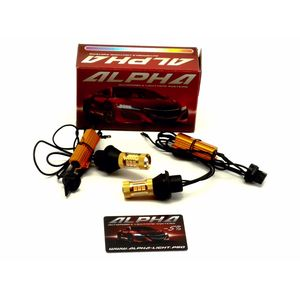 Дневные ходовые огни в поворотники T20 / W21W / 7440 светодиодные лампы с обманкой купить недорого DRL