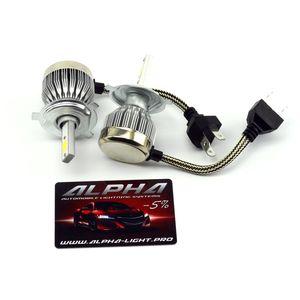 светодиодные лампы Alpha C6 альфа с6 цоколь H4 Н4 купить с гарантией