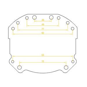 """замена линзAudi A6 C6 Биксеноновые линзы Alpha Hella 2R Classic 3.0"""" с ручной настройкой ауди а6 с6"""