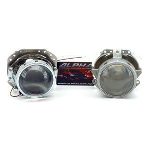 """замена линз Jaguar X-Type Биксеноновые линзы Alpha Hella 2R Classic 3.0"""" с ручной настройкой Ягуар икс тайп"""