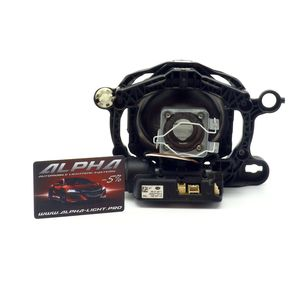 """замена линз Range Rover Sport 2005-2009 Биксеноновые линзы Alpha Hella 2R Classic 3.0"""" с ручной настройкой  РенджРовер Спорт"""
