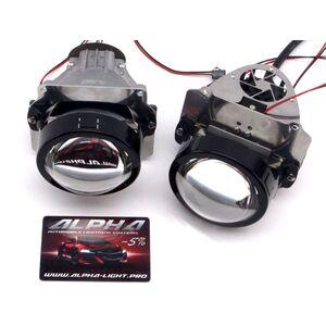 Светодиодные билинзы Biled Alpha №5 для Cadillac SRX (2003-2009) для замены нижней линзы (ближнего света)
