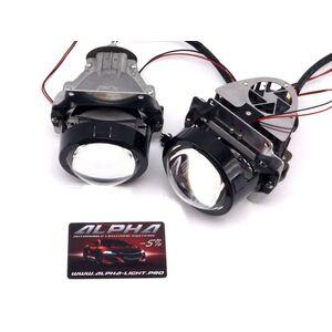 Светодиодные билинзы Biled Alpha №5 для Cadillac SRX (2003-2009) для замены верхней линзы
