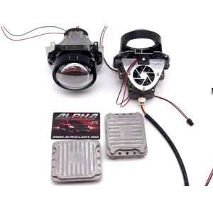 Светодиодные билинзы Biled Alpha №5 для Porsche Cayenne 958 (2010-2014) с креплением под Hella Intellect