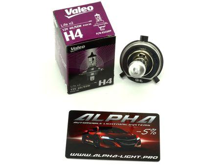 Галогеновая лампа H4 Valeo Life x2 12v 60/55w 032 509