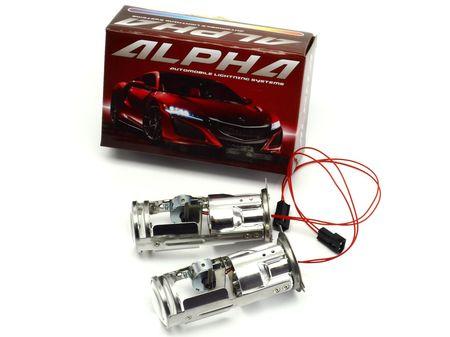 Биксеноновые линзы Alpha Morimoto Mini H4