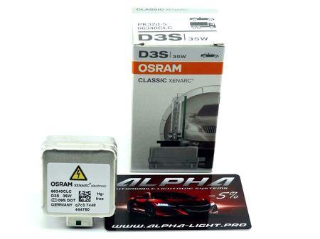 Ксеноновая лампа Osram D3S Xenarc Classic осрам ксенарк классик 66340clc купить недорого с доставкой д3с