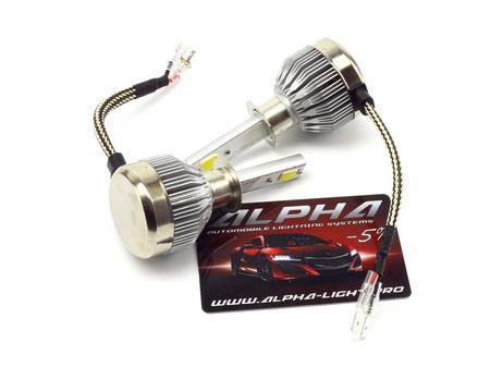 светодиодные лампы Alpha C6 альфа с6 цоколь H1 Н1 купить с гарантией
