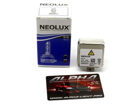 Ксеноновая лампа NeoLux D1S NX1S Original неолюкс оригинал купить недорого с доставкой д1с