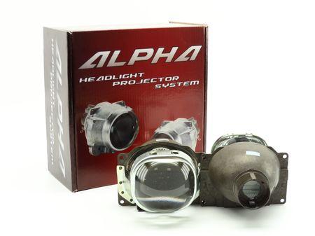 Биксеноновые линзы Square Alpha Koito Q5 D2S купить с доставкой