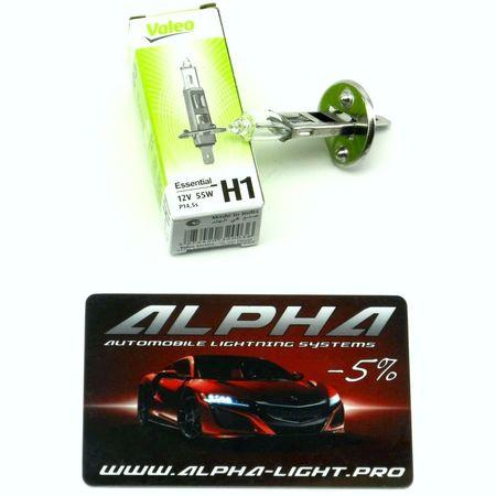 Галогеновая лампа H1 Valeo Essential (standart) 12v 55w 032 003