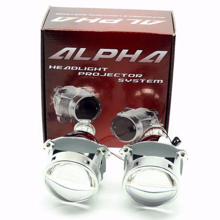 """Биксеноновые линзы Alpha Morimoto H1 3.0"""" G8 с металлическим отражателем"""